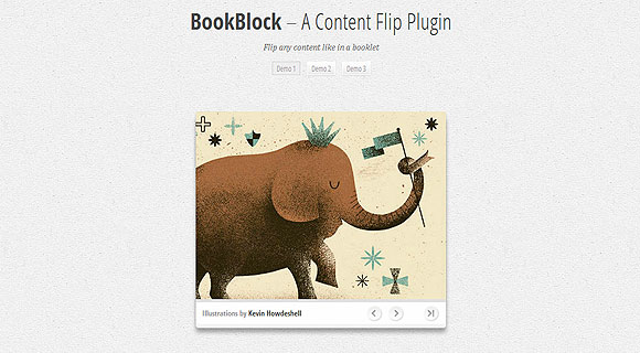 jquery BookBlock