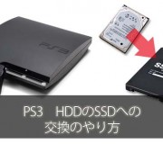 PS3のHDD・SSDの交換のやり方