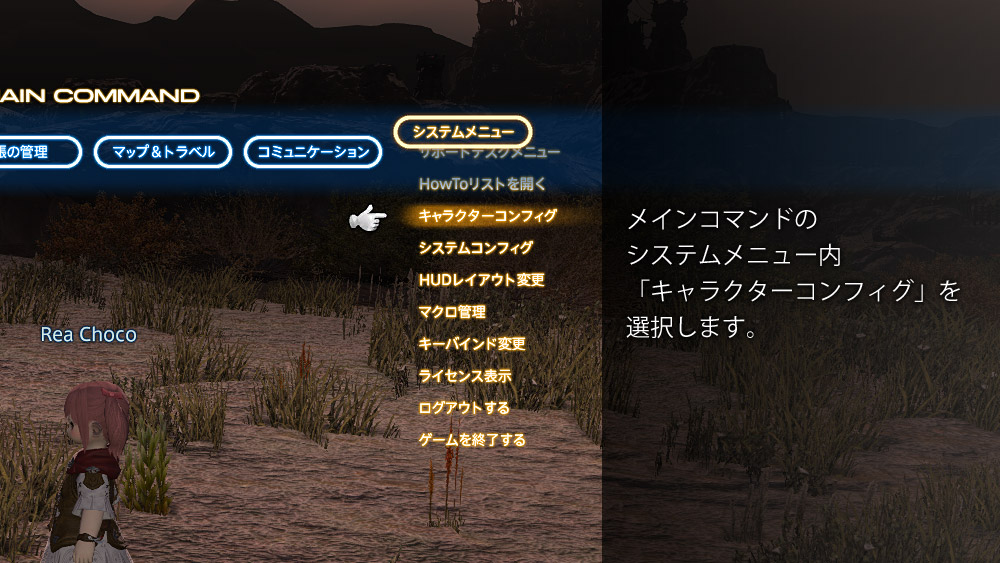 FF14 ターゲットサークルの消し方 SS