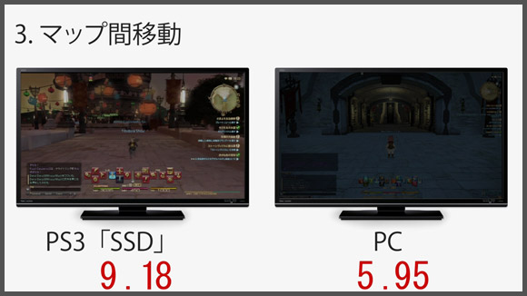 FF14 PS3_SSDとPCとの比較 3.マップ間移動