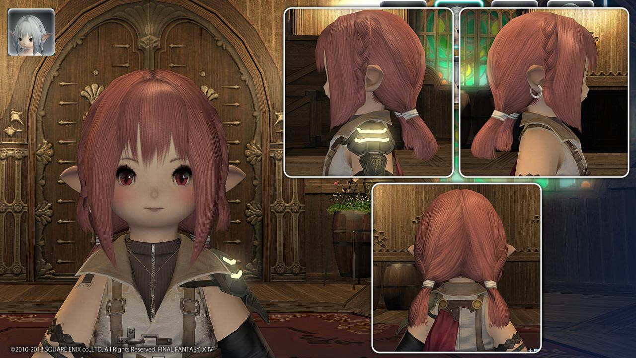 FF14 ララフェル(女性) 髪型