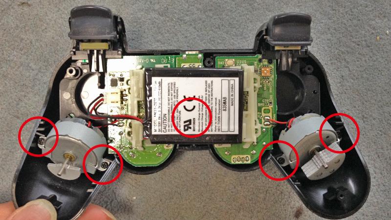 PS3 コントローラーのラバーパッド(ゴム)交換方法