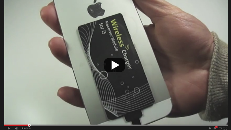 iPhone5 フィルム型 非接触充電Qi チー 受信シート + チャージャー