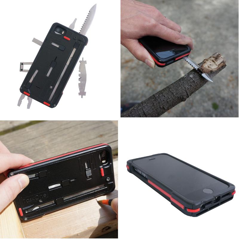 アウトドアなどに持って行きたい22種類の工具を内蔵したiPhone 5s・5ケースw