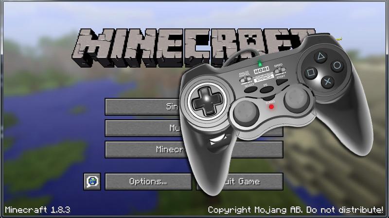 Minecraft(マインクラフト)をコントローラーで操作編